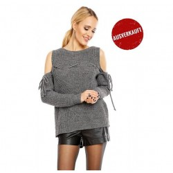 Grobstrick Pullover mit Cut-Out