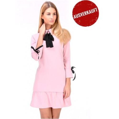 Schößchen-Kleid mit Kragen und Schleife