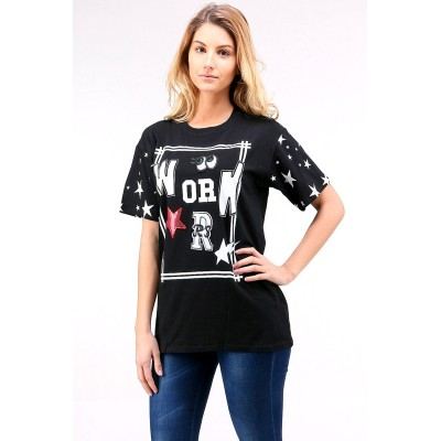 Trendiges T-Shirt mit Patches