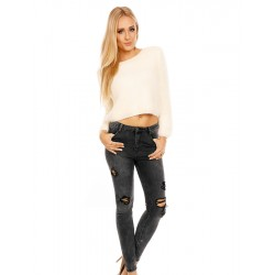 Skinny-Jeans in Destroyed-Optik